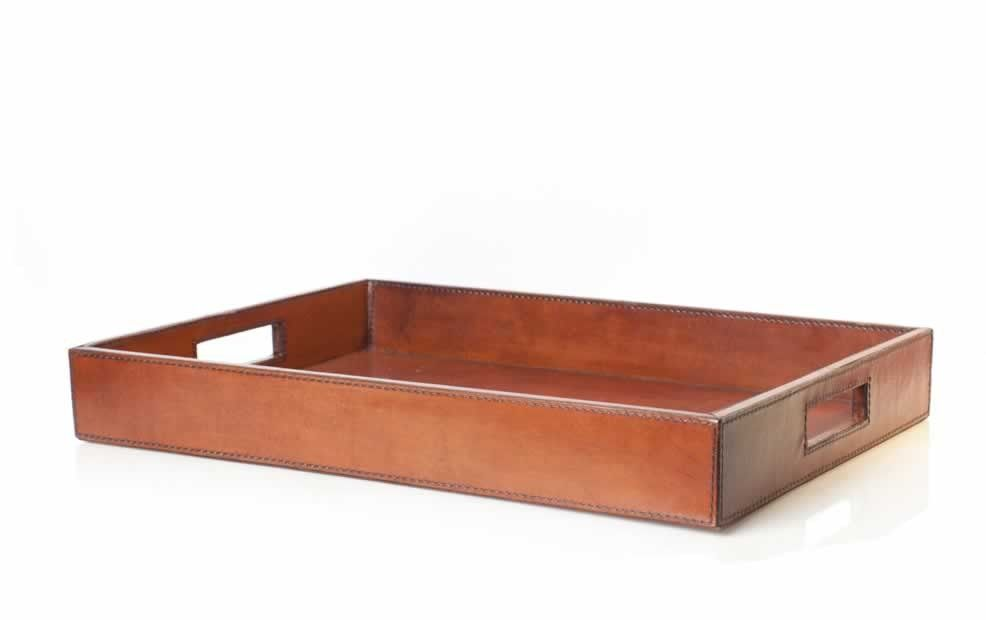Beaufort Leather Drinks Tray