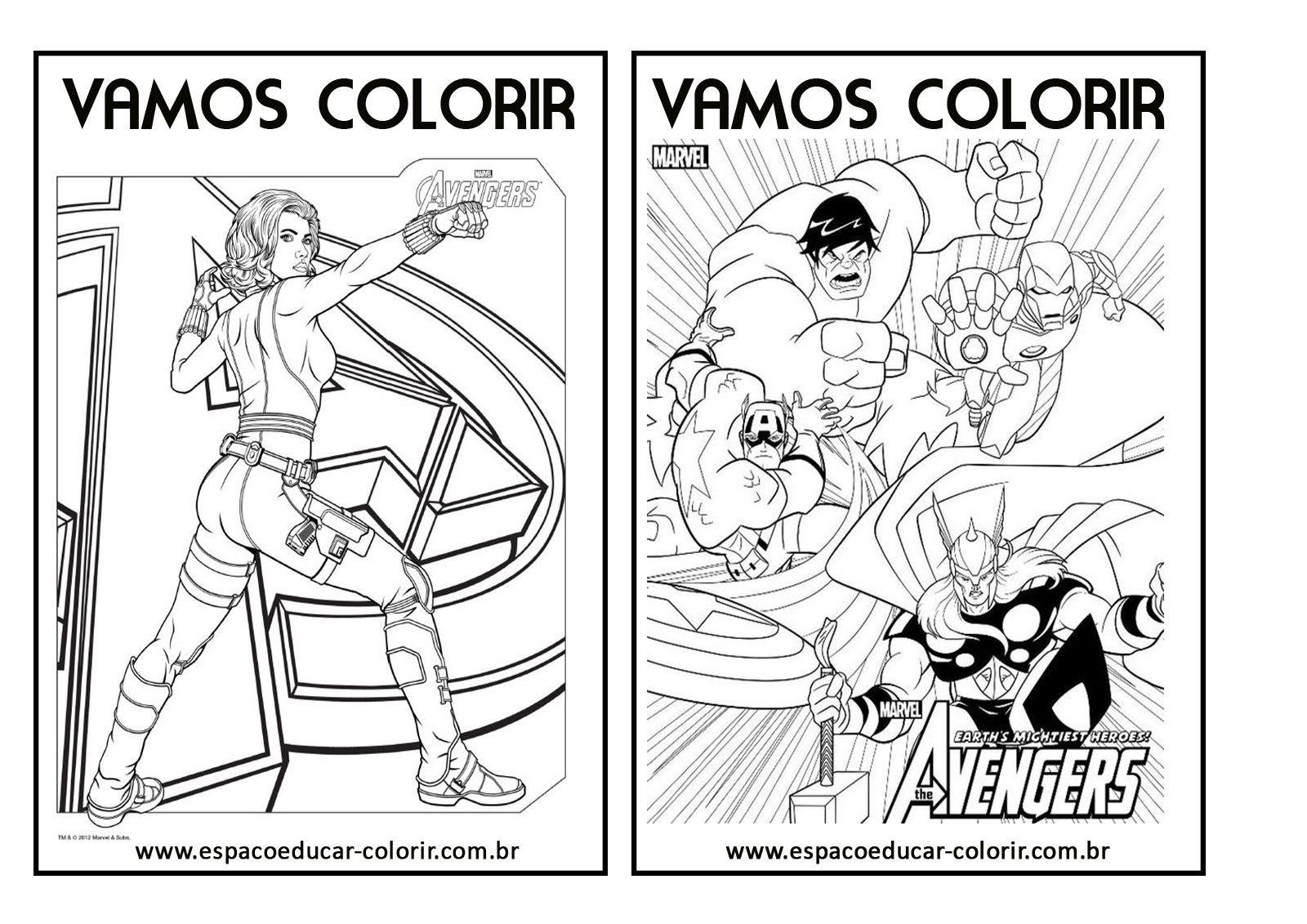 Resultado de imagem para para colorir personagens super ...