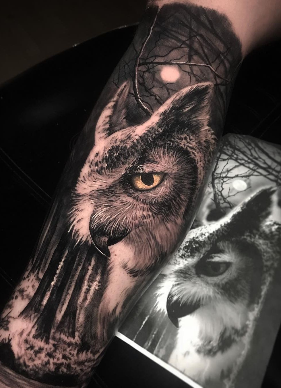 50 Of The Most Beautiful Owl Tattoo Designs And Their Meaning For The Nocturnal Animal In You Owl Tattoo Realistic Owl Tattoo Animal Tattoos