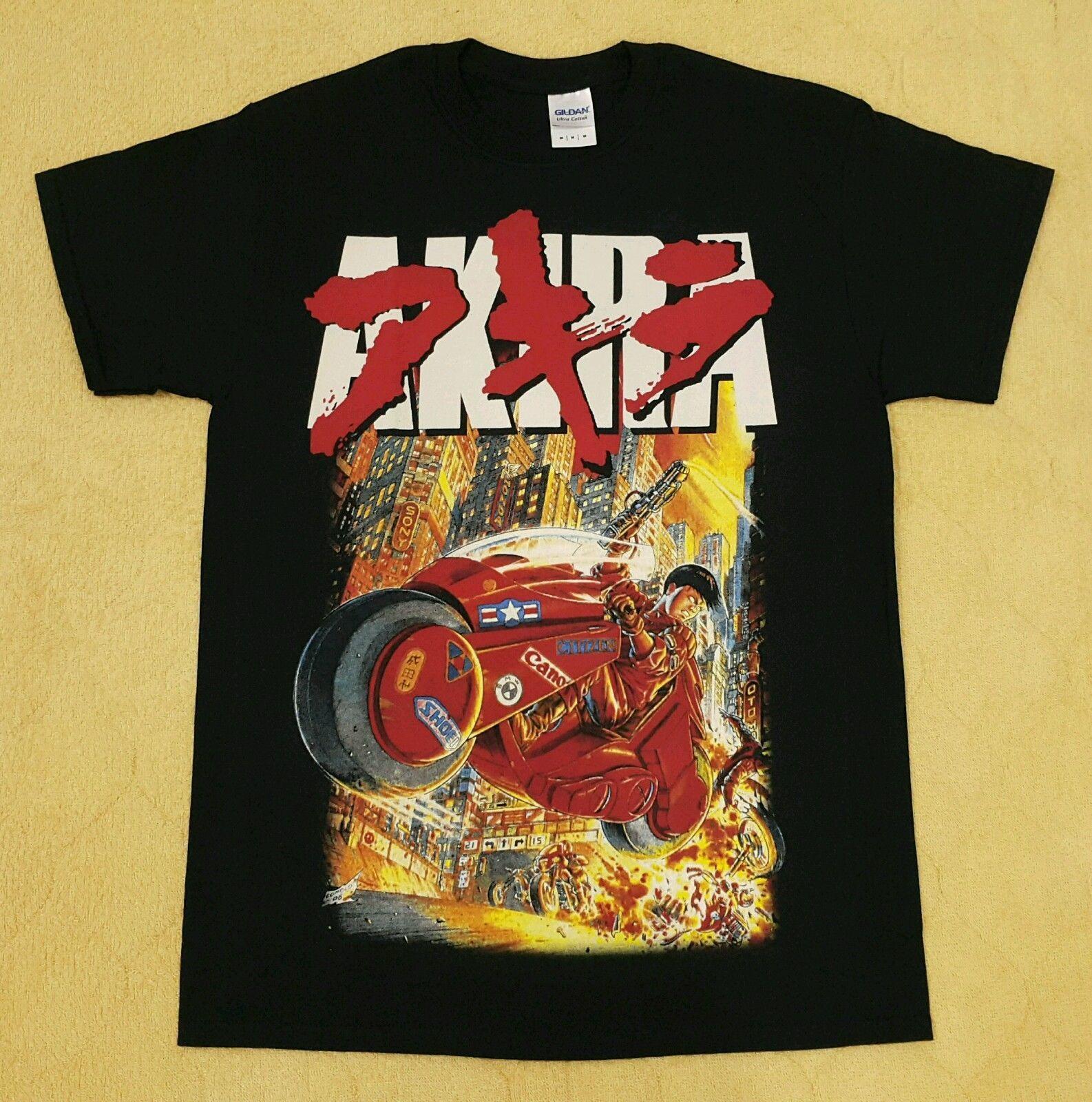 Black t shirt ebay - Akira Japan Anime Cartoon Kaneda Bike Black T Shirt Size L Rare Motorcycle Ebay