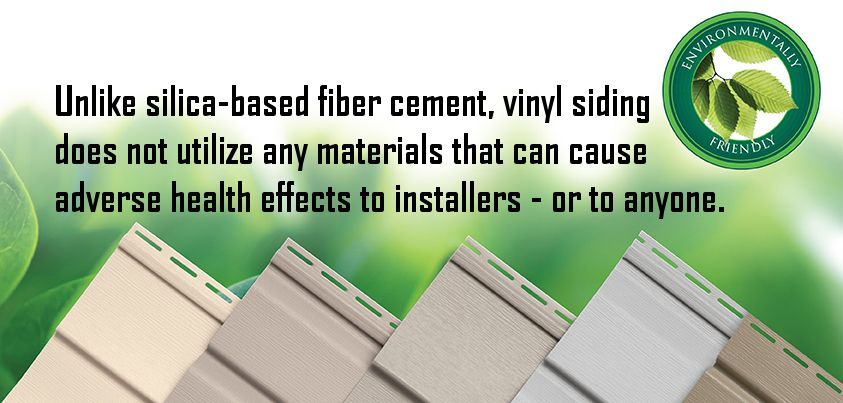 Vinyl Siding does not utilize any materials that can cause health effects. #siding