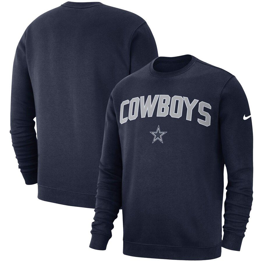 Men S Dallas Cowboys Nike Navy Fan Gear Club Pullover Sweatshirt Sweatshirts Crew Sweatshirts Pullover Sweatshirt [ 900 x 900 Pixel ]