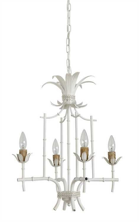 Shabby chic metal bamboo white petite chandelier 18 x 22h shabby chic metal bamboo white petite chandelier 18 x 22h aloadofball Image collections