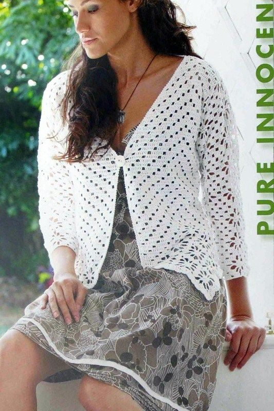 Crochet jacket, free pattern | tejidos | Pinterest | Ganchillo ...