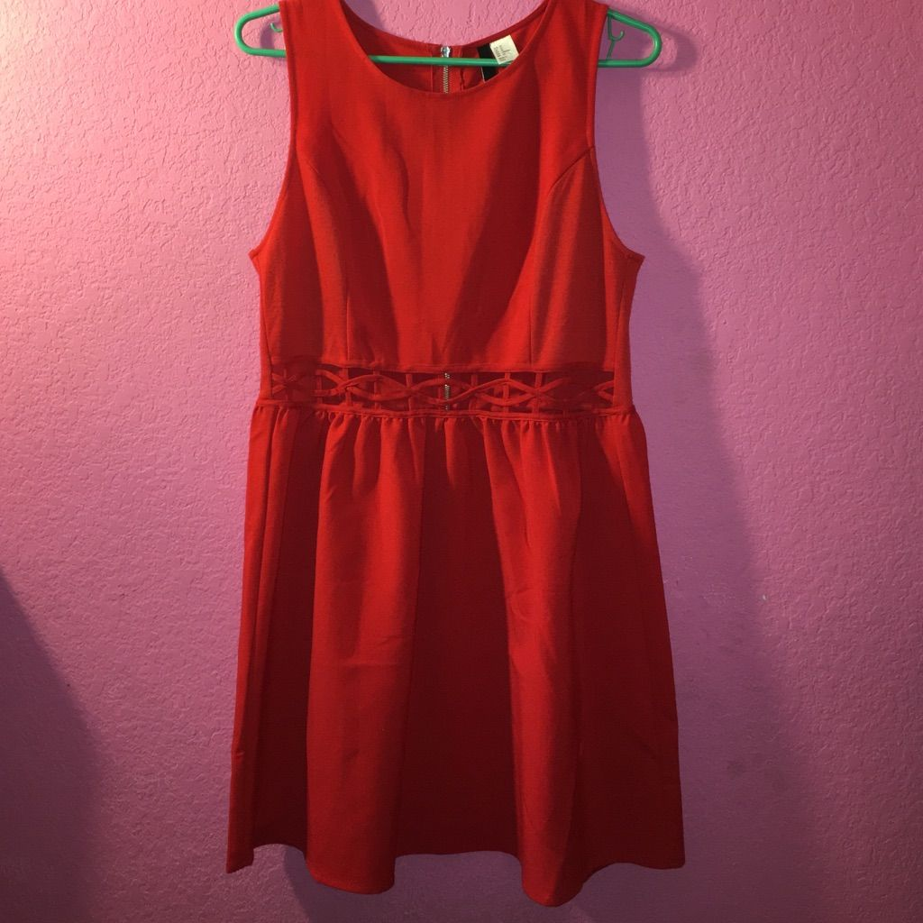 Red cut out dress products