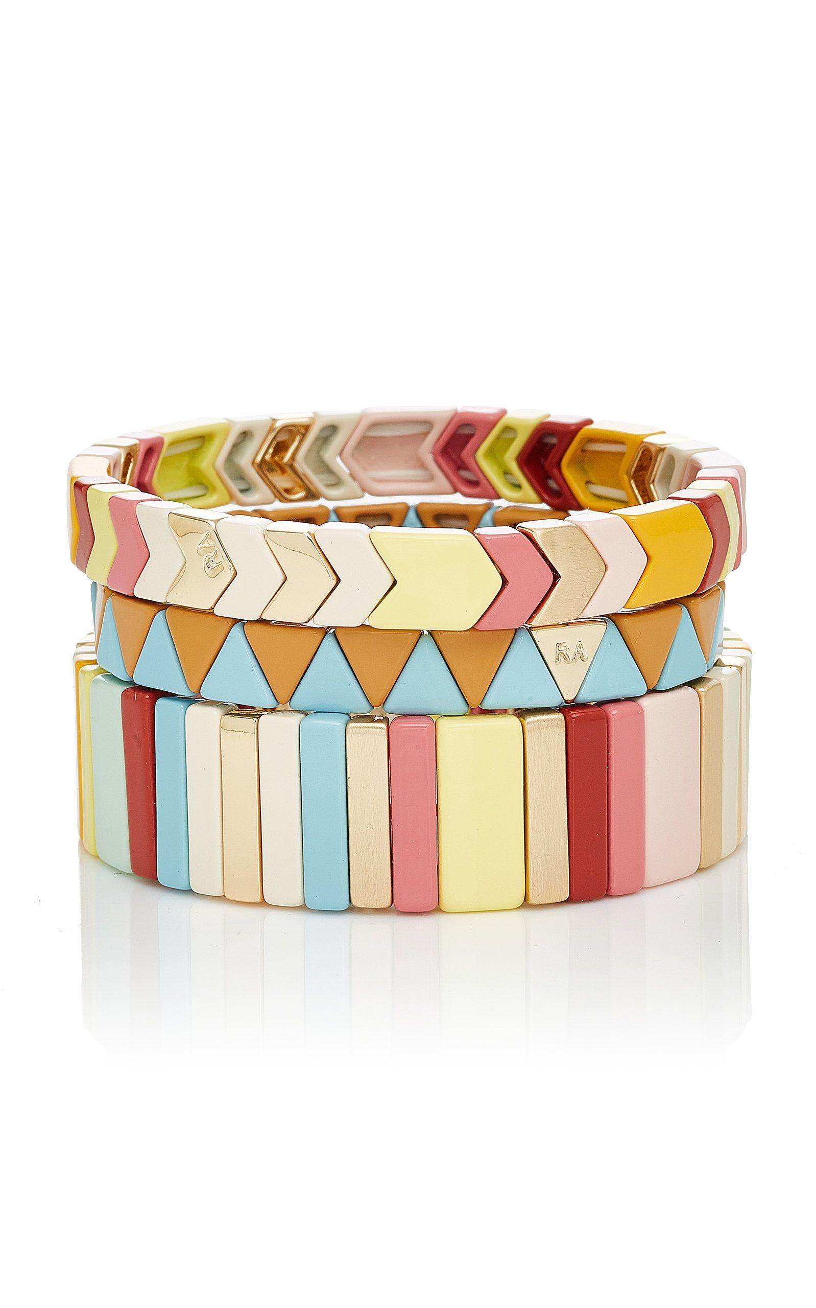 Roxanne Assoulin Fresh Start Set Of Three Enamel Bracelets - White 8KHCN
