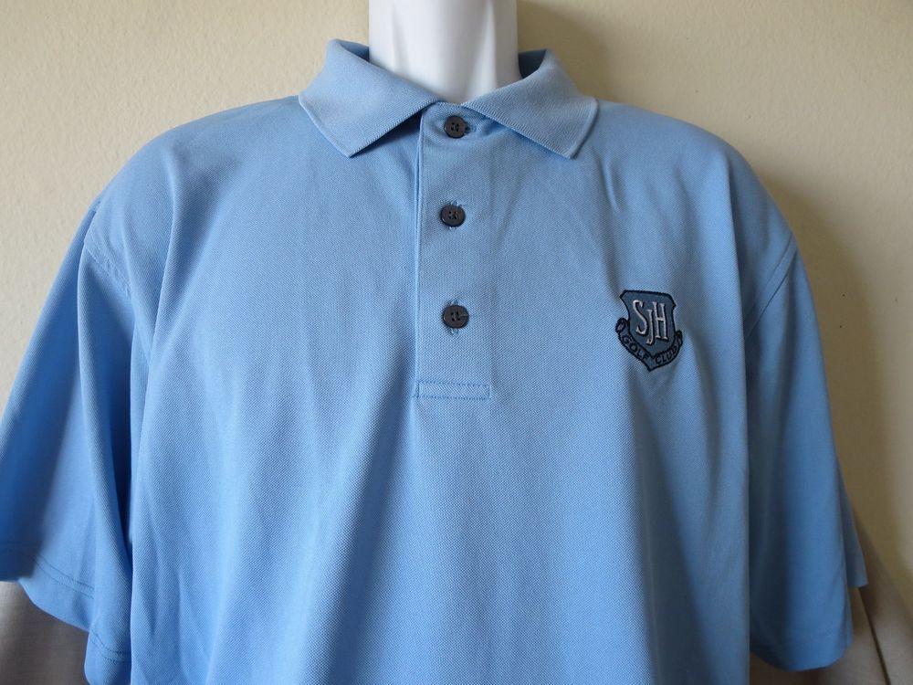 San Juan Hills Golf Club Polo Shirt Blue Footjoy San Juan Juan Capistrano Large #Footjoy #SanJuanHills  www.guppy64.com