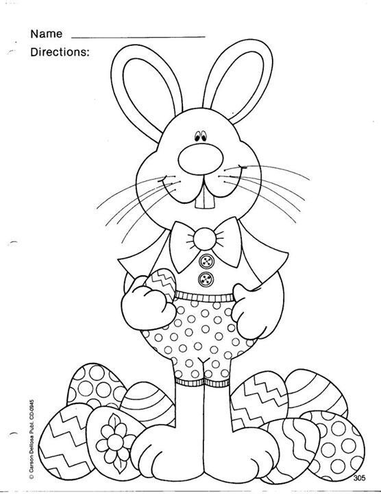 easter-bunny-coloring-page (14) | coloring pages | Pinterest ...