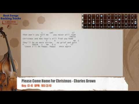 Please Come Home For Christmas Charles Brown Bass Backing Track
