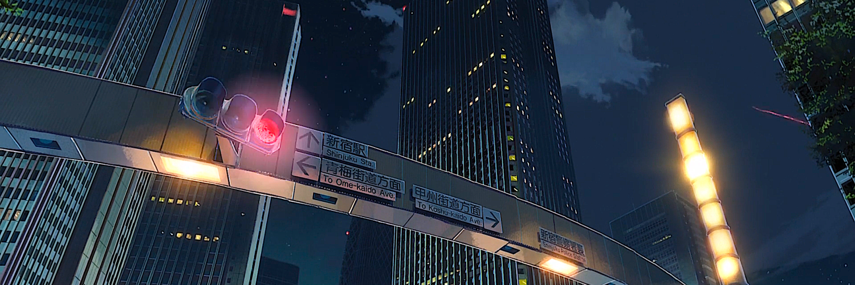 Tokyo SkyNight Anime Your Name. Building Kimi No Na Wa