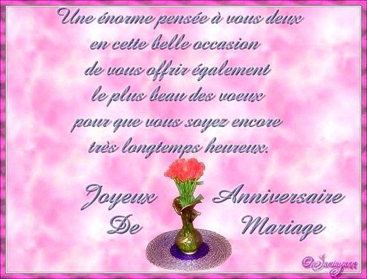 Carte Virtuelle Anniversaire De Mariage.Une Enorme Pensee A Vous Deux En Cette Belle Occasion De