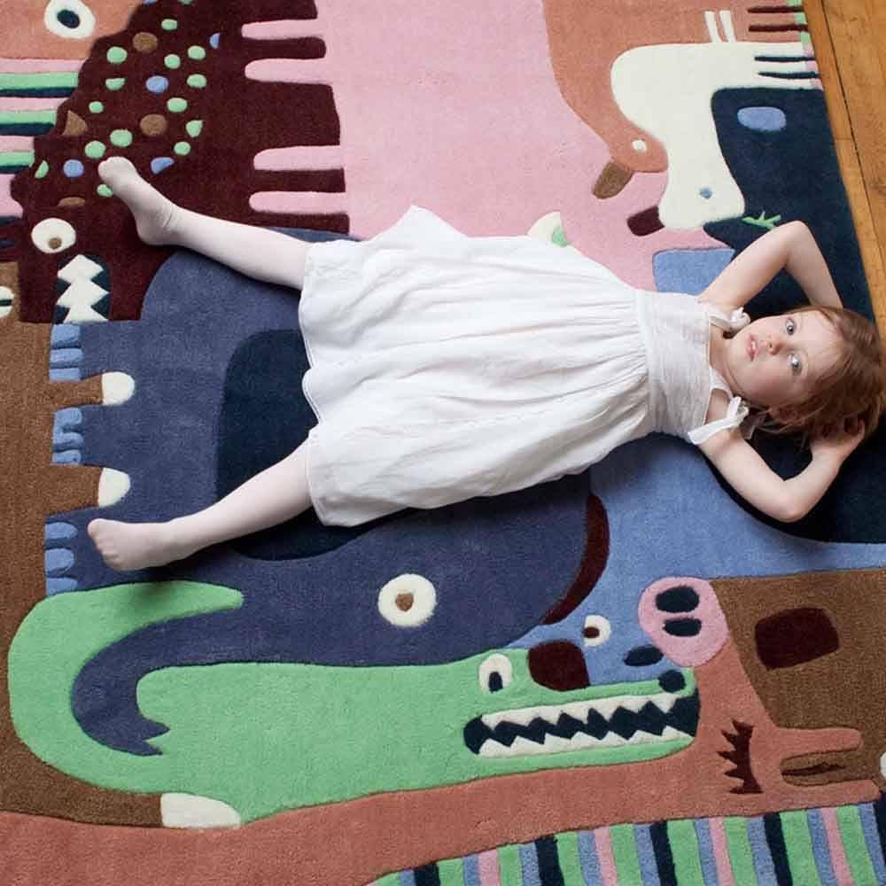 Art for Kids Kinderteppich Tier Puzzle blau (mit Bildern