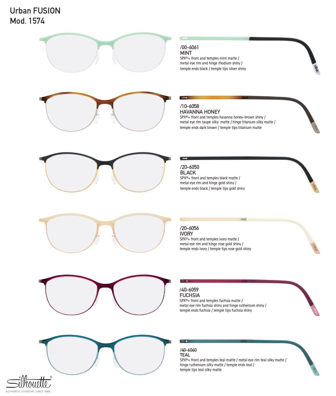 098d80a64 Silhouette Urban Fusion Fullrim 1574 Eyeglasses Fashion Eyewear  Women's/Unisex SPX+ Titanium #Silhouette #