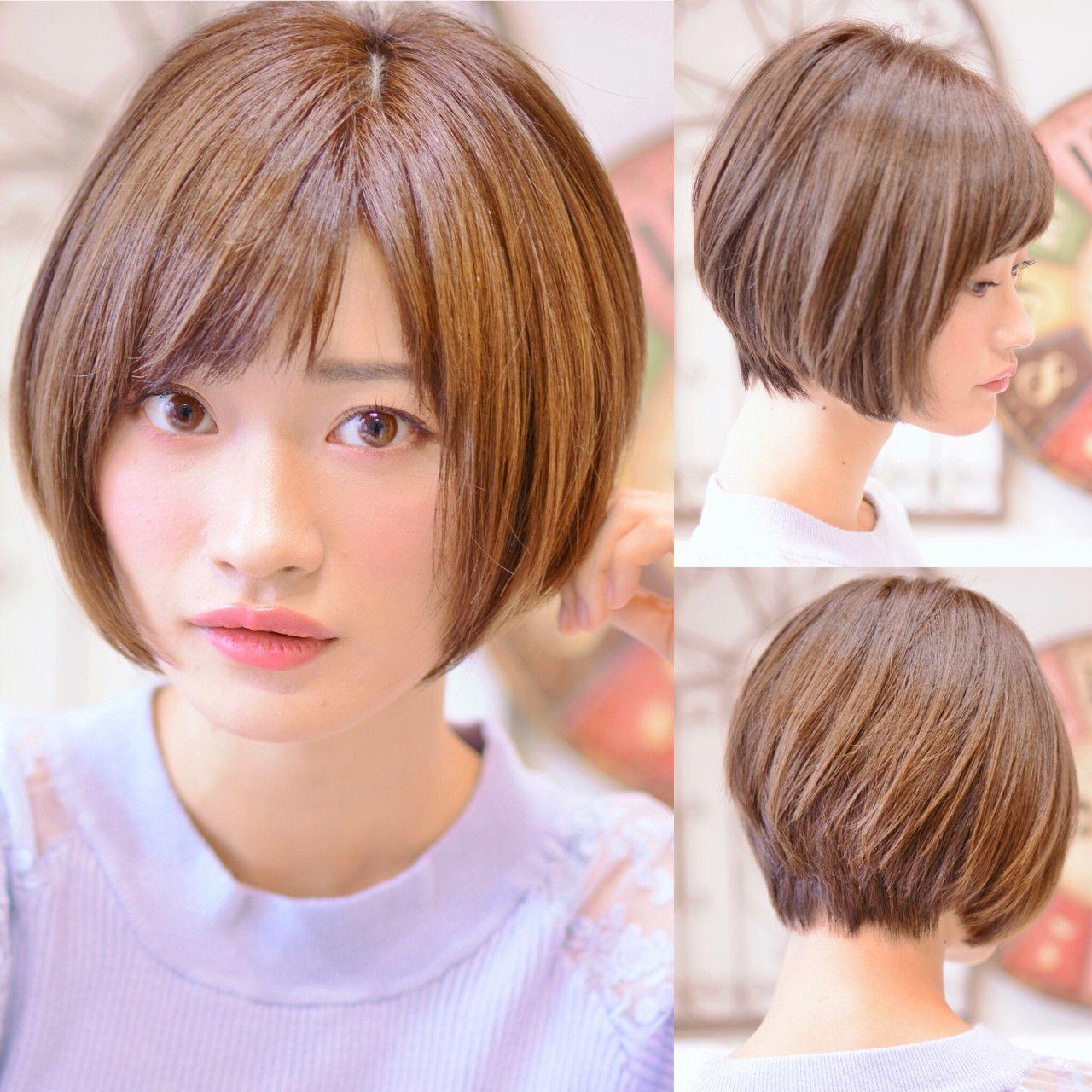 芸能人にも人気 前下がりのショートボブスタイル集 Hair ヘアスタイリング ショートのヘアスタイル ショートボブ 前髪