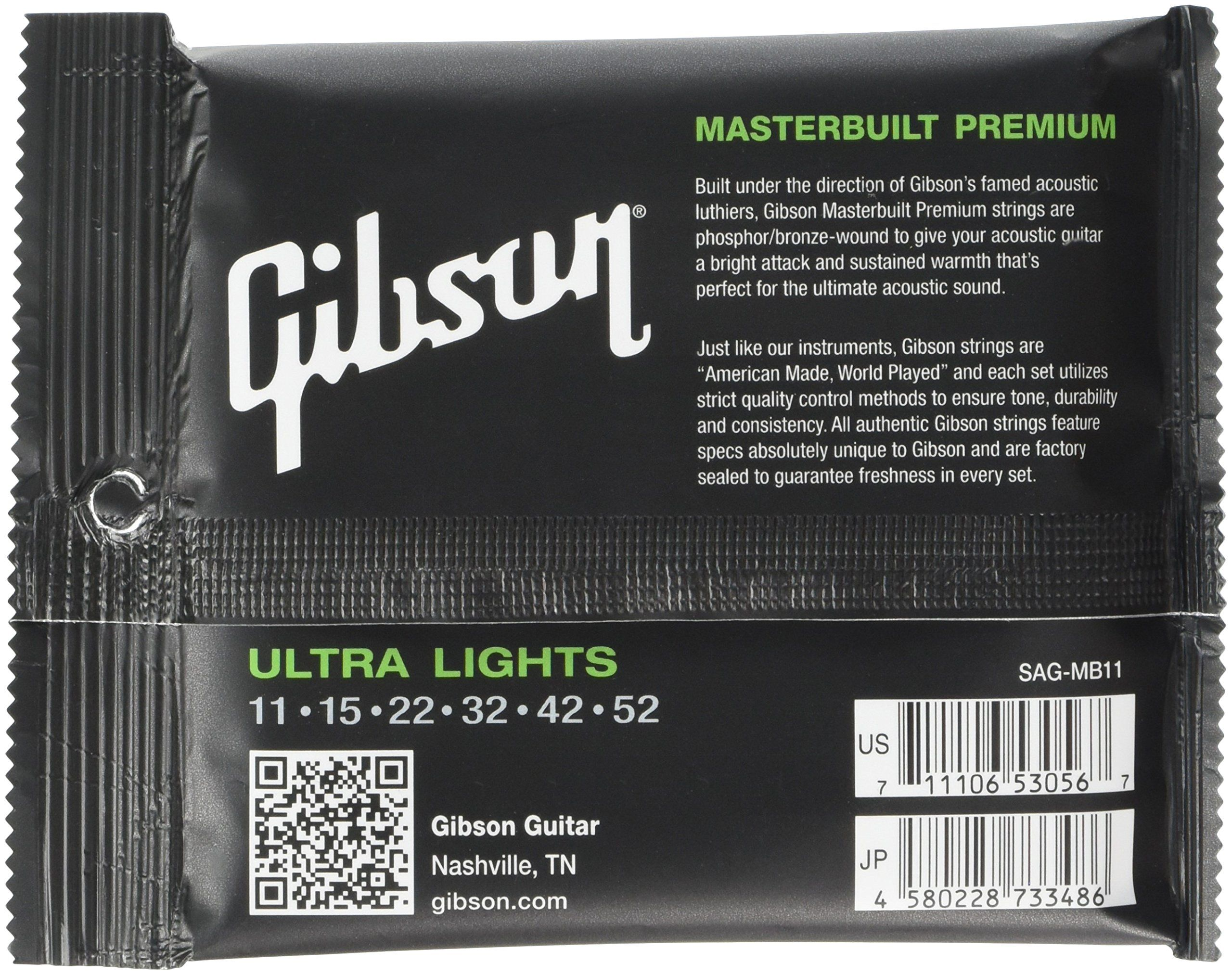 Gibson Masterbuilt Premium Phosphor Bronze Acoustic Guitar Strings Ultra Light 1152 To View Further Fo Acoustic Guitar Strings Acoustic Guitar Guitar Strings