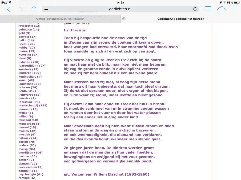 Gedicht Het Huwelijk Van Willem Elsschot 1910