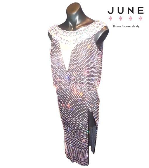 Shiny crystal AB Latin dress
