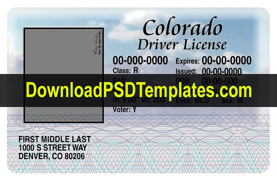 15 driver license template images colorado driver license psd