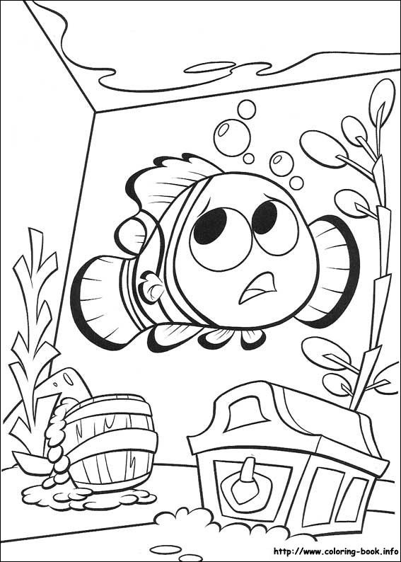 Finding Nemo Coloring Picture Print PagesFinding