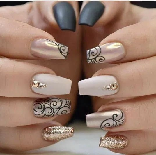 30 Amazing Medium Length Coffin Nails You Must Not Miss In 2020 In 2020 Nail Colors Colorful Nail Designs Holographic Nails
