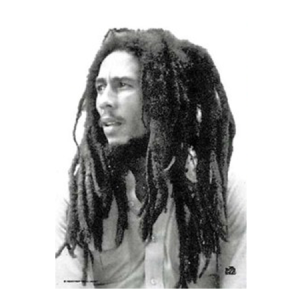 Bob Marley Portrait Fabric Poster - Hang Bob Marley on your wall with this Bob Marley Portrait Fabric Poster made of a silk-like material that won't rip. With dimension at 30 x 40, you'll feel like you and the legend just got closer.