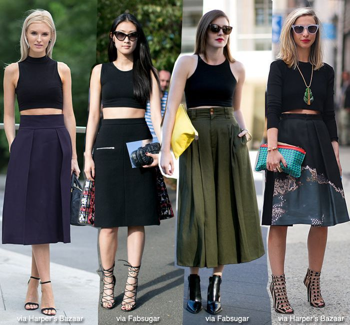 How To Wear Crop Tops! | Pencil skirts