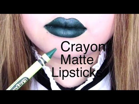 DIY: How To Make Matte Lipstick With Crayons - YouTube