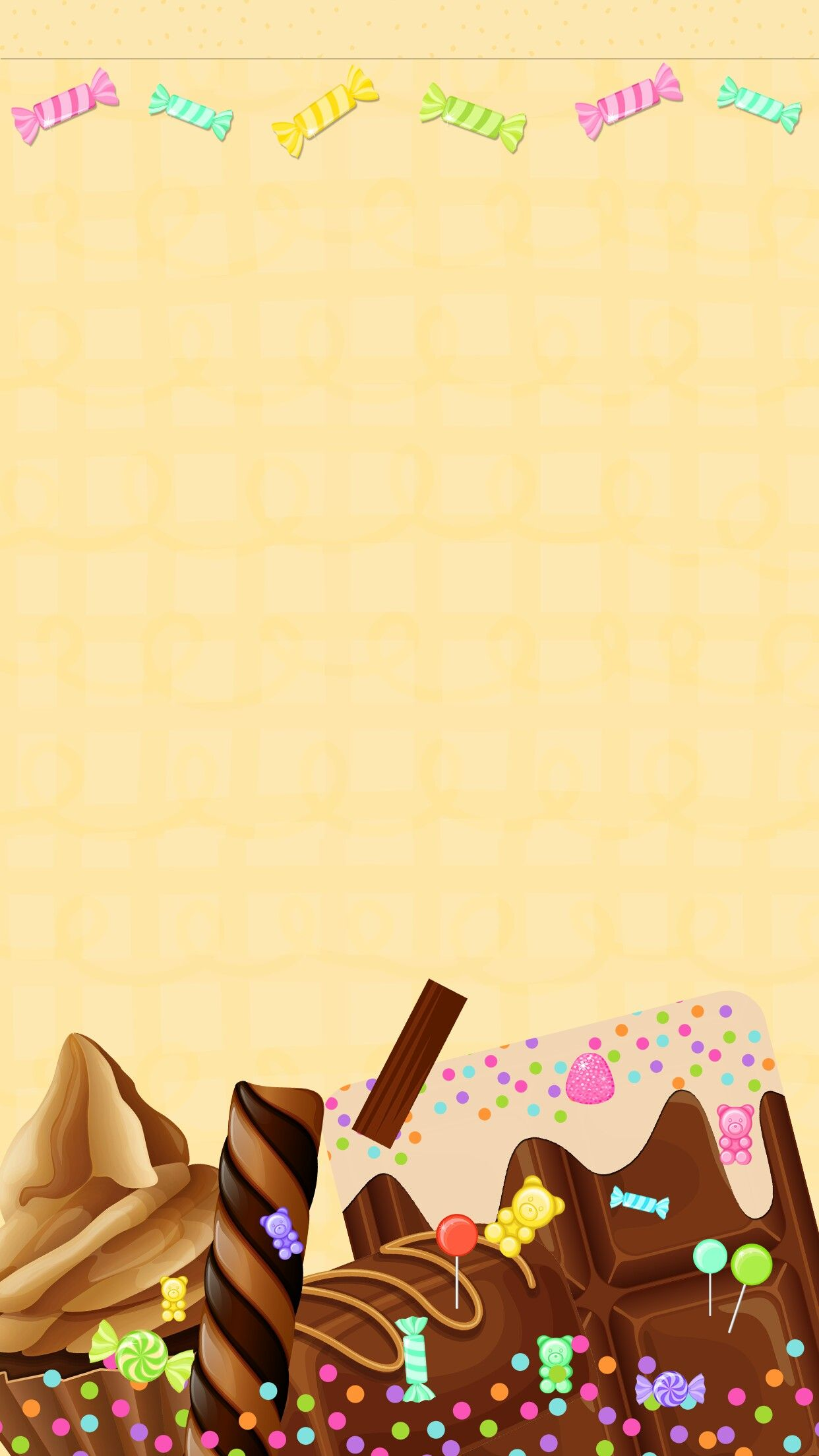 Cute Hello Kitty Wallpaper Cell Phone Chocolate Kiss Yummy Walls Pinterest Wallpaper