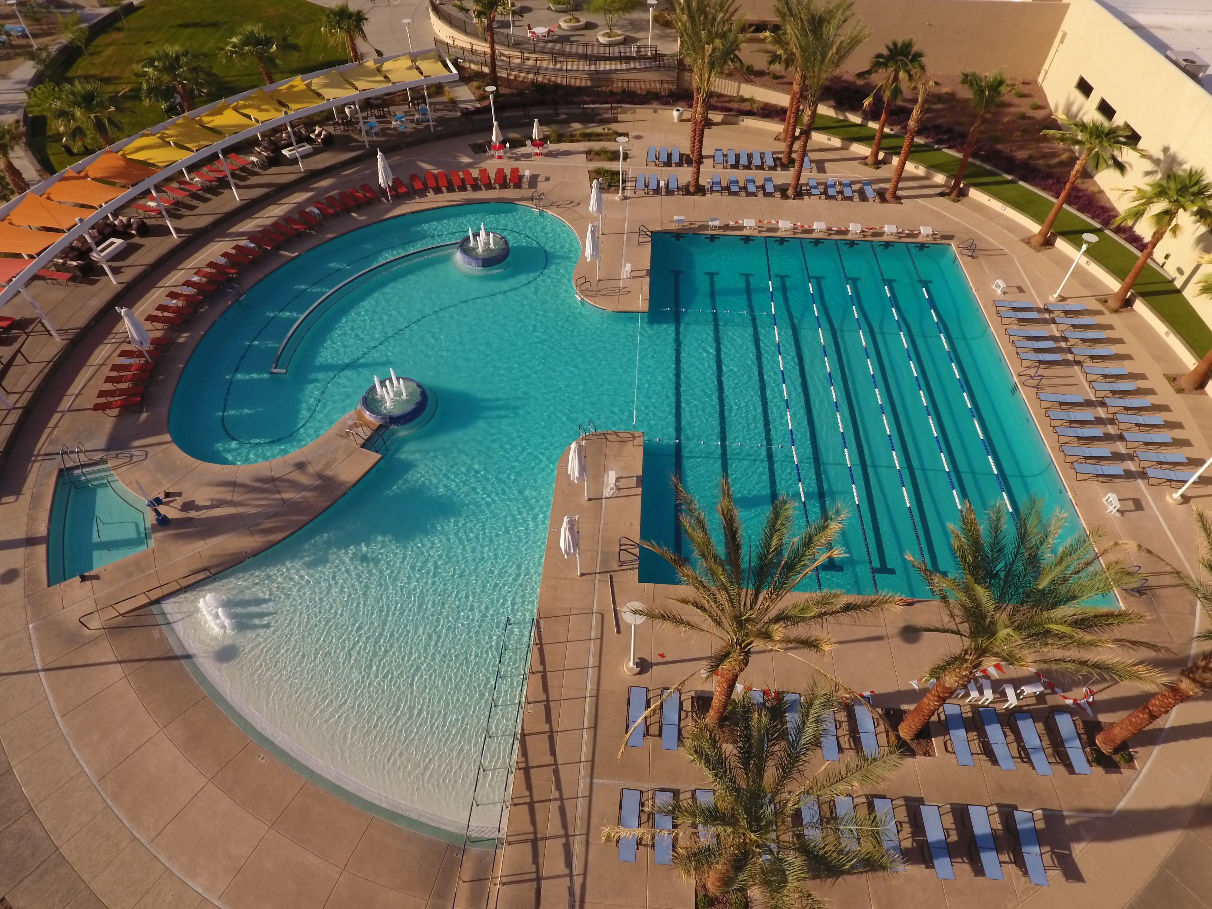 Here Is A Great Shot Of Sun City West In Phoenix Arizona This Community Wanted A Pool That Featured A Beach Luxury Pools Swimming Pool Designs Pool Designs