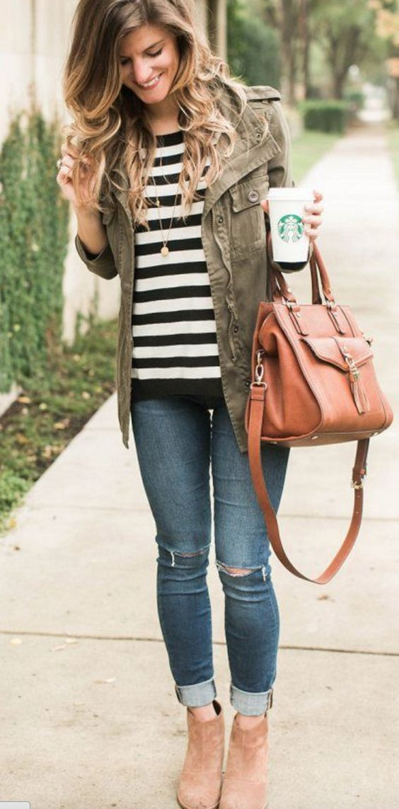 Casual Fall Style // Utility Jacket | Casual fall outfits ...