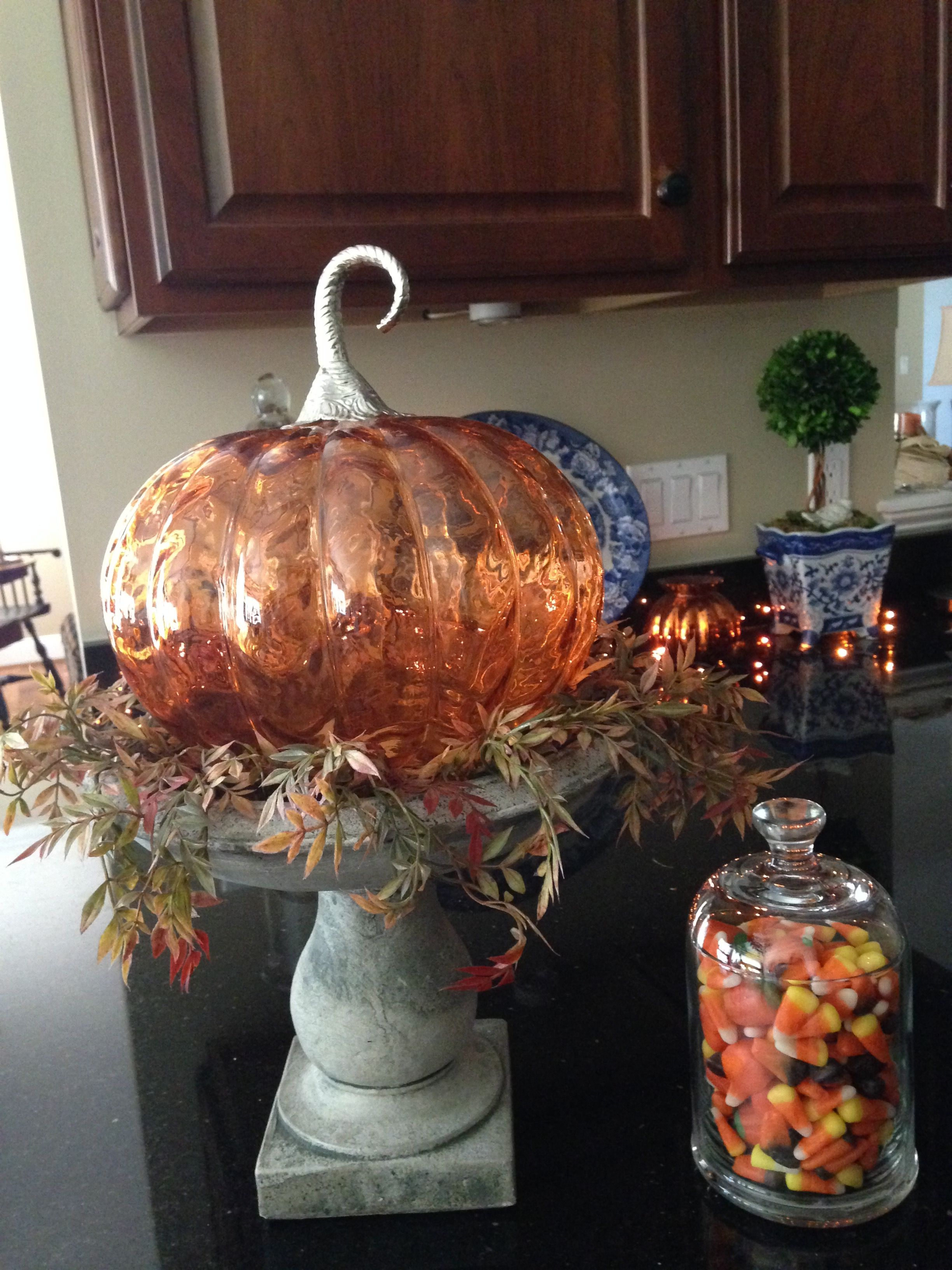 Much Prettier In Real Time Mouth Hand Blown Glass Pumpkin On