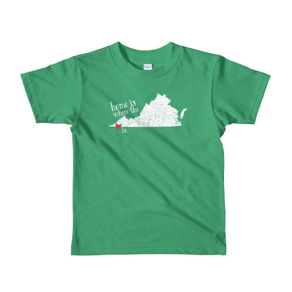 Home is where the heart is - Bristol, VA - YOUTH 2-6 yrs Short sleeve t-shirt