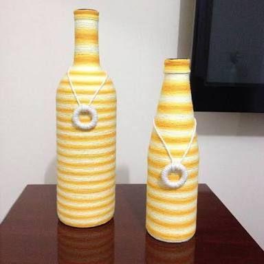 Resultado de imagen para garrafas decoradas
