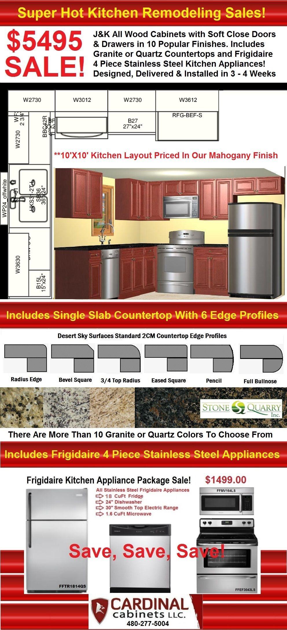 Mahogany Kitchen Cabinets Countertops Appliances Sale 5495 Mesa G Kitchen Cabinets And Countertops Cabinets And Countertops Stainless Steel Kitchen Appliances