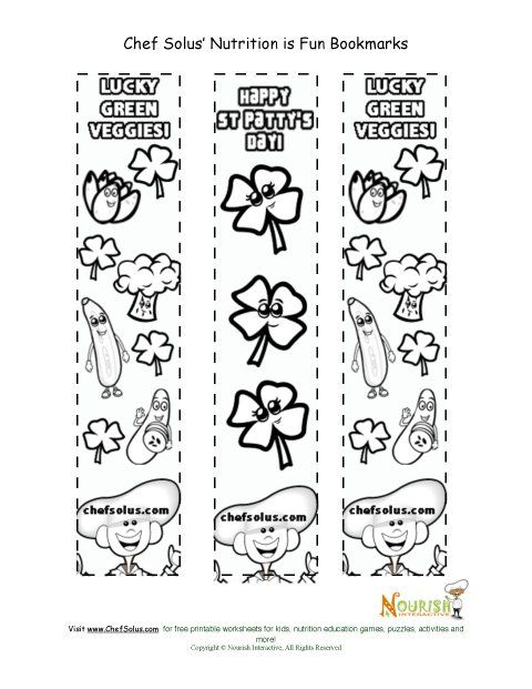 Holiday 4 Bookmark St Patrick s