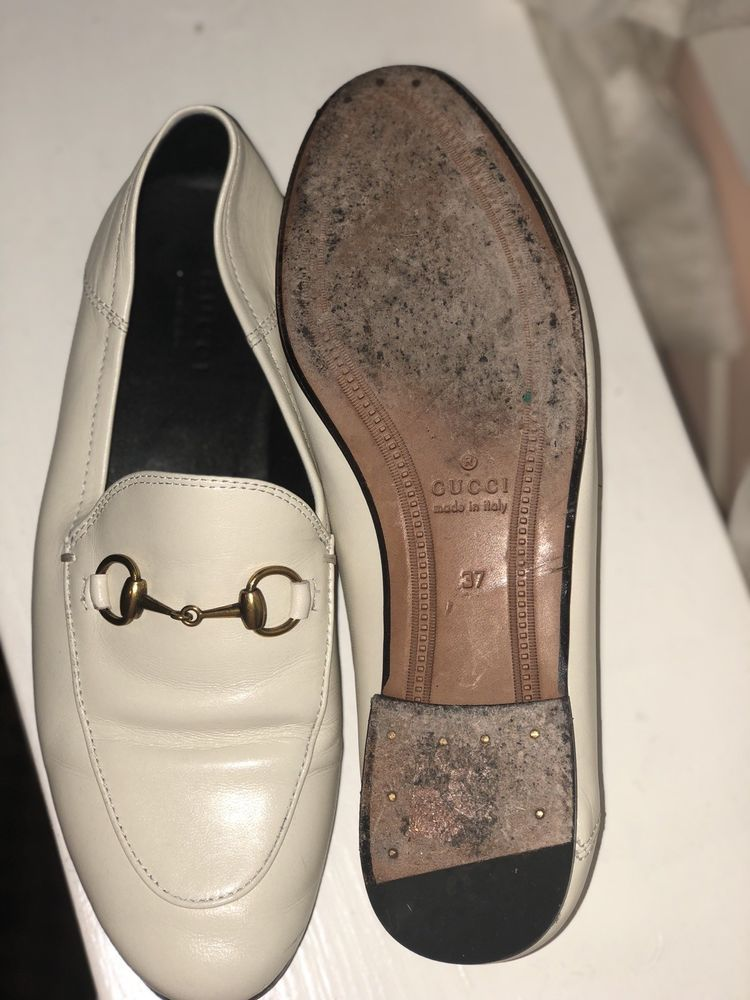 c8b261557e5 Gucci Brixton off white 7 37 leather horsebit slipper loafer shoe NEW  730   fashion  clothing  shoes  accessories  womensshoes  flats (ebay link)