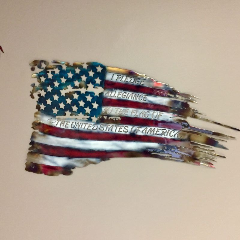 War Torn American Flag Metal Wall Art - US Trailer would like to repair used trailers in any condition to or from you. Contact USTrailer and let us repair ... & War Torn American Flag Metal Wall Art | Pinterest | Metal tree