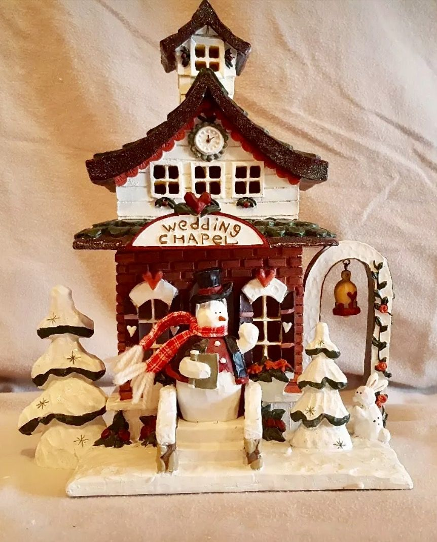 Kurt S. Adler Snowtown WEDDING CHAPEL Lighted House