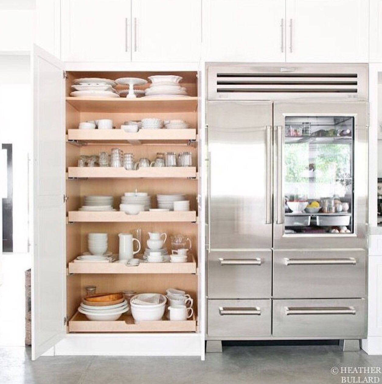 area to left of fridge as mega storage | New Kitchen | Pinterest ...