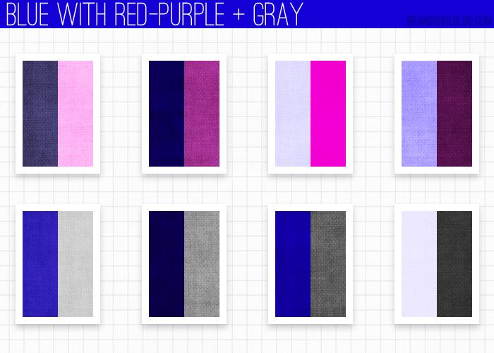 using blue - red-purple and gray | Palettes et mélanges de couleurs ...