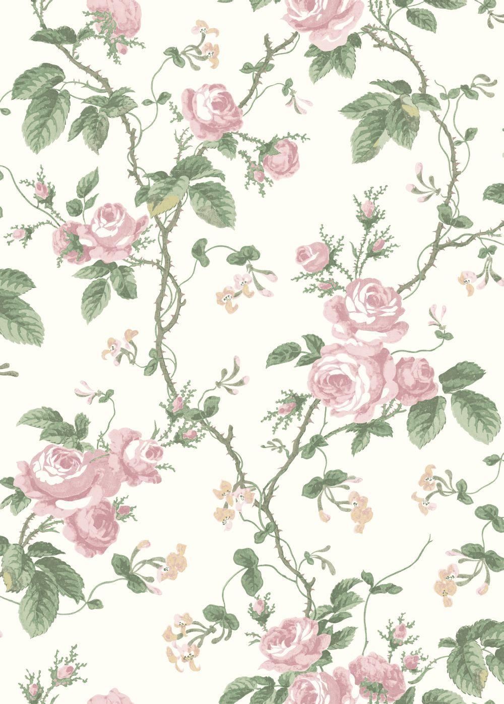 French Roses By Borastapeter Pink Wallpaper Wallpaper Direct Flowery Wallpaper Wallpaper Floral Wallpaper