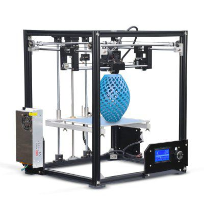 Tronxy X5 Aluminum Profile 21 x 21 x 28cm 3D Printer EU plug - BLACK