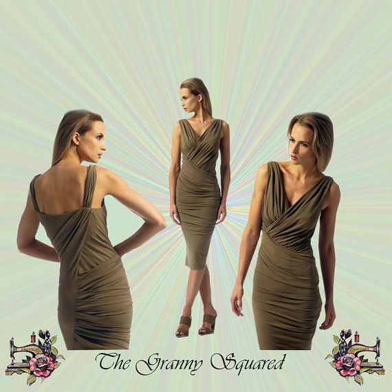 Donna Karan Wiggle Dress has Shirred Bodice by TheGrannySquared ...