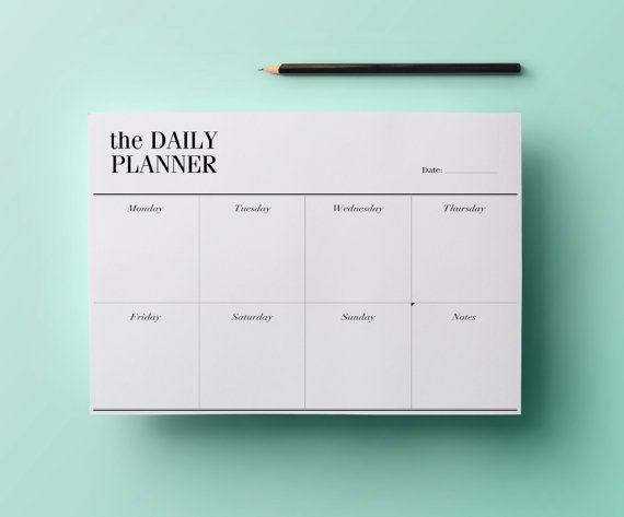 Printable Planner Stylish To Do List Daily Planner