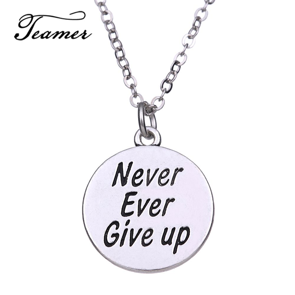 Find more pendant necklaces information about teamer never ever give