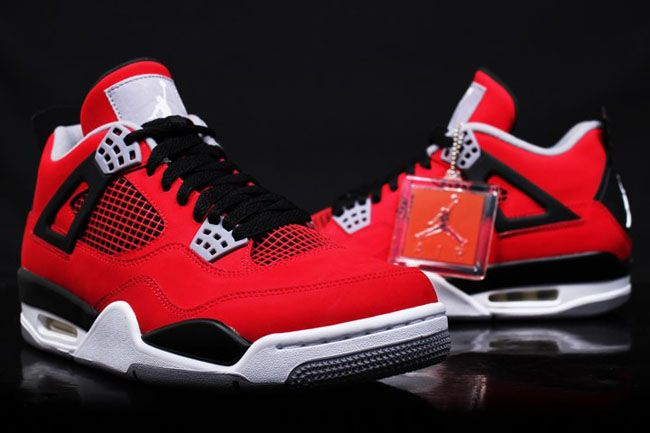 air jordan retro 4 red nubuck sandals