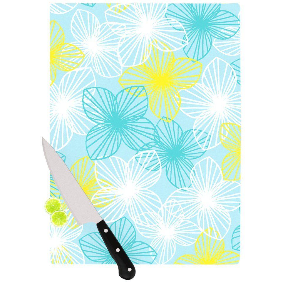 Aqua Sunshine by Emine Ortega Cutting Board