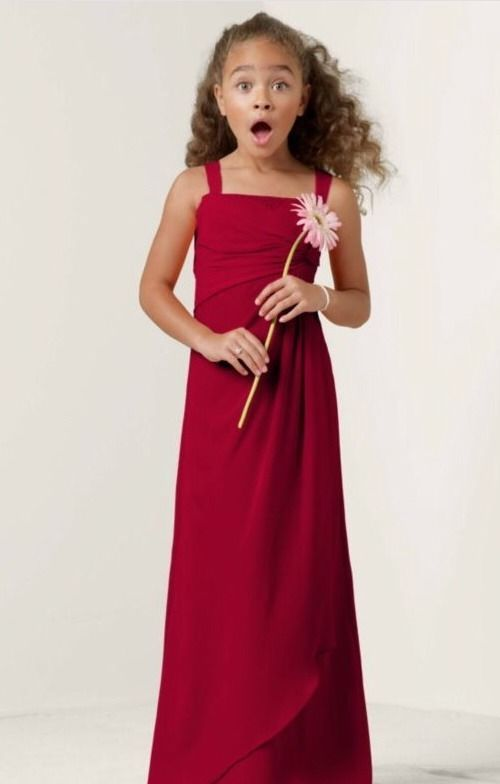 f178c6cf1 David s Bridal JB4935 Size 16 Apple Red Junior Bridesmaid Dress ...
