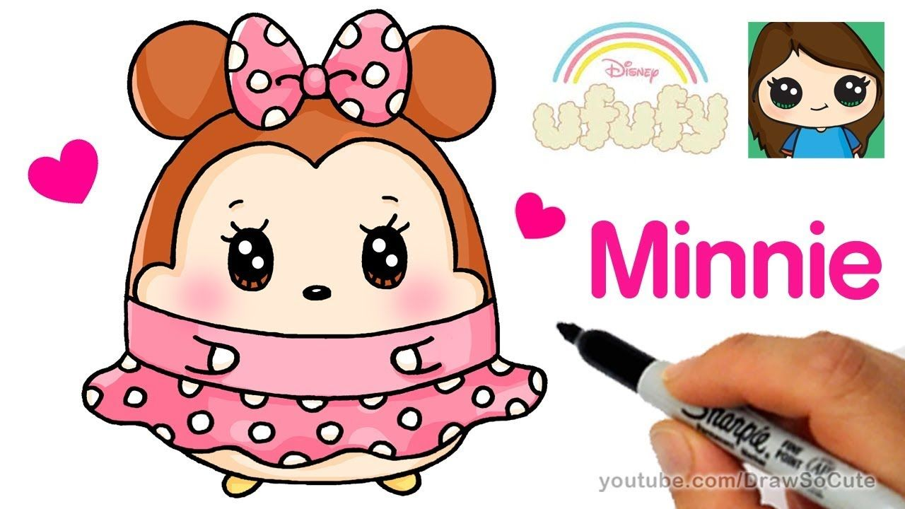 How to Draw Minnie Mouse Easy  Disney Ufufy  Drawing lessons for