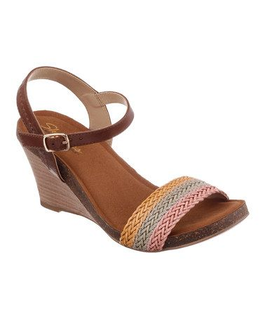 Another great find on #zulily! Rainbow Rumor Has It Wedge Sandal by Skechers #zulilyfinds
